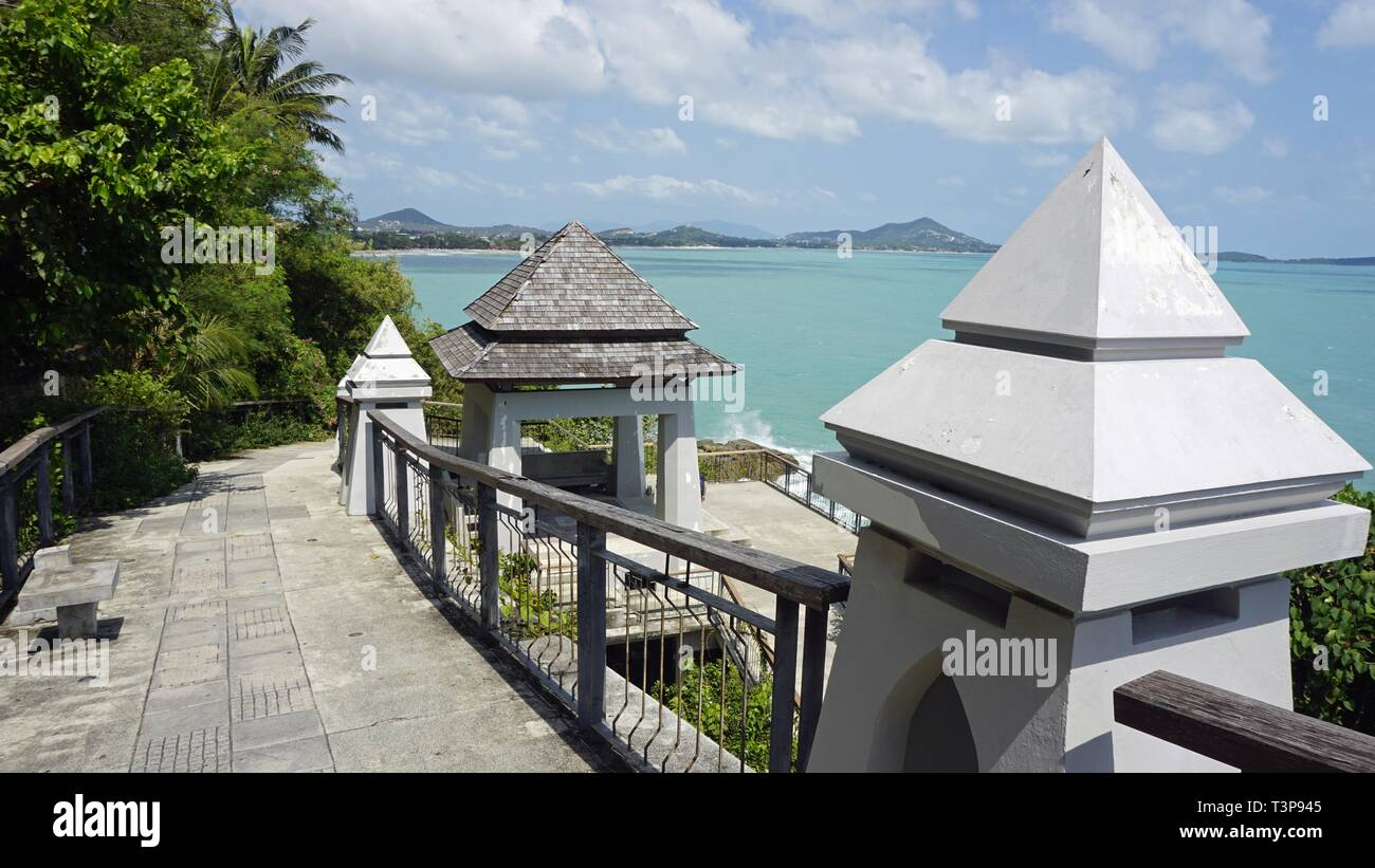 lad koh viewpoint on koh samui in thailand - Stock Image