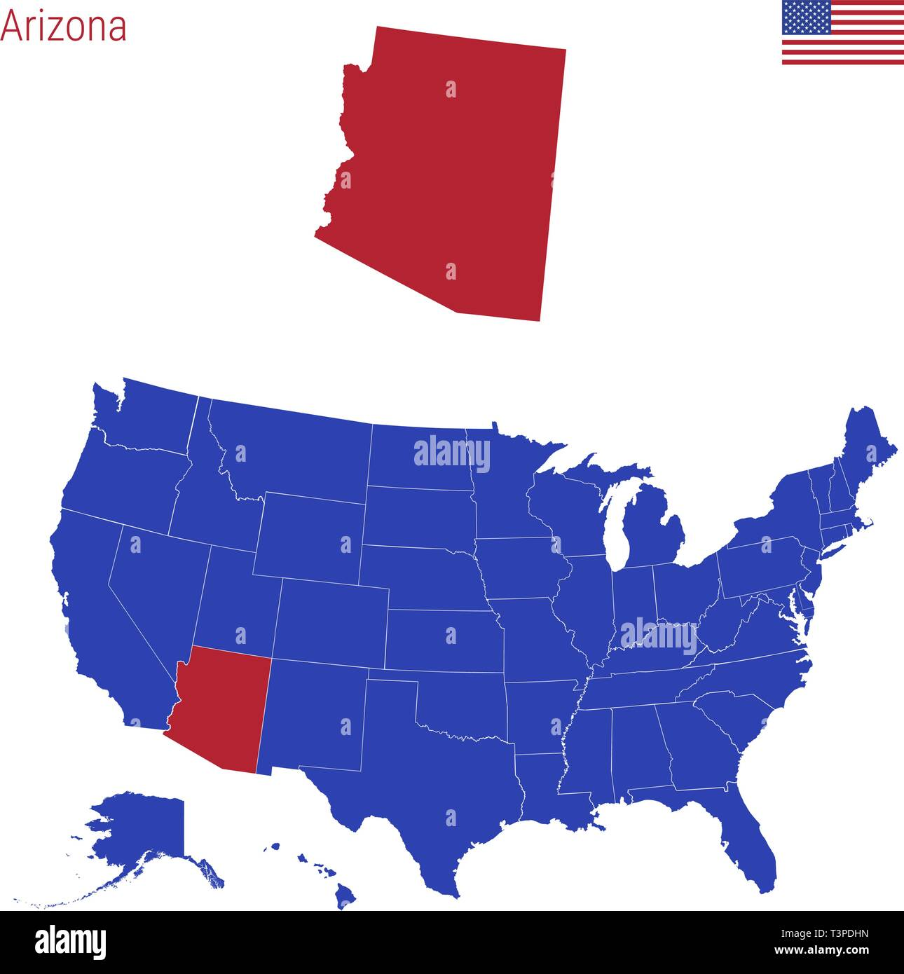 Red Blue States Map Stock Photos & Red Blue States Map Stock ...