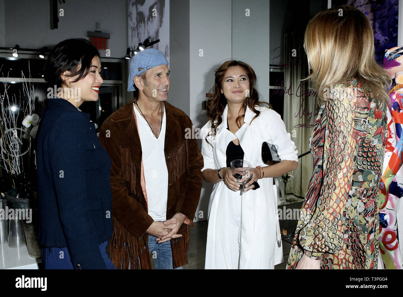 New York, USA. 21 May, 2015.  Kamilla Sun, Dr. Andrew Feldman, Art Dealer, Sasha Rales, and, Co-Creater of Space 16, Daniela Zahradnikova at The Opening Night Of 'Paul Gerben: Mind Game' Private Art Event at Space 16 on May 21, 2015 in New York, NY. Credit: Steve Mack/S.D. Mack Pictures/Alamy - Stock Image