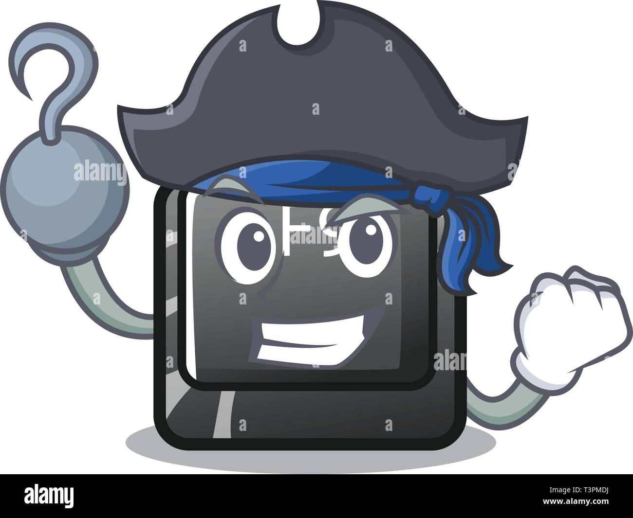 Pirate button f9 isolated in the mascot - Stock Image
