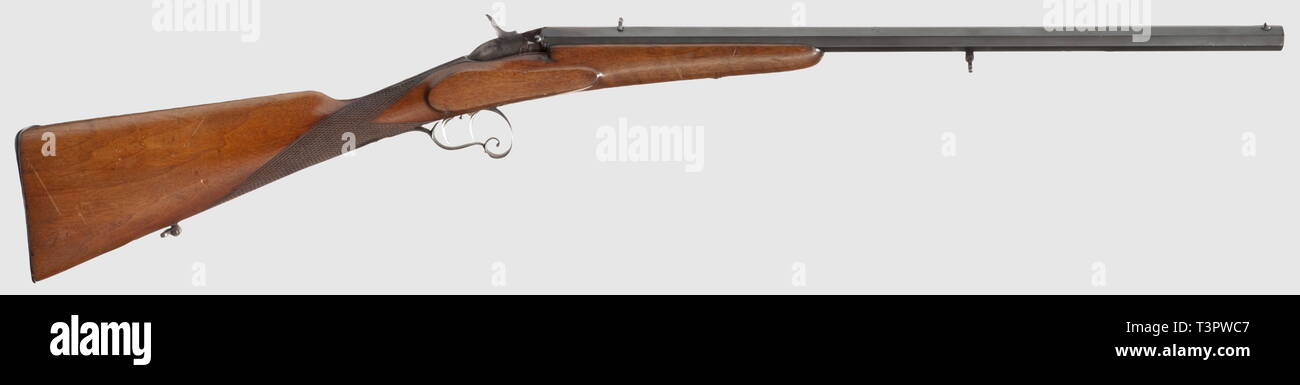 Civil long arms, modern systems, sports rifle Kellner, Vienna, circa 1880, calibre 6 mm, without S/N, Additional-Rights-Clearance-Info-Not-Available - Stock Image
