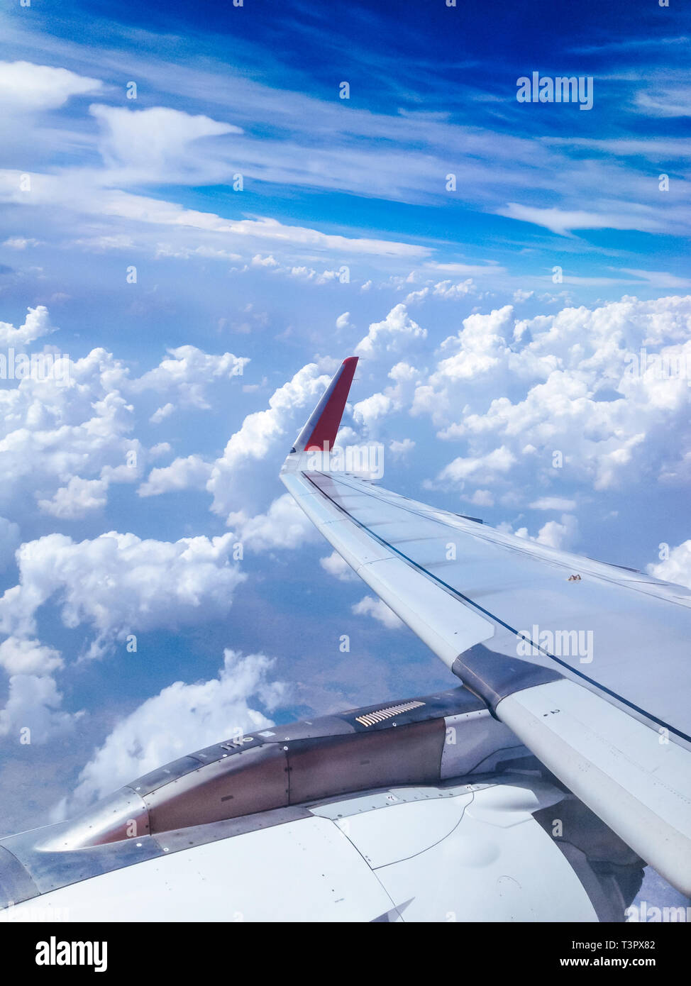 View From An Airplane Window Background Stock Photo Alamy