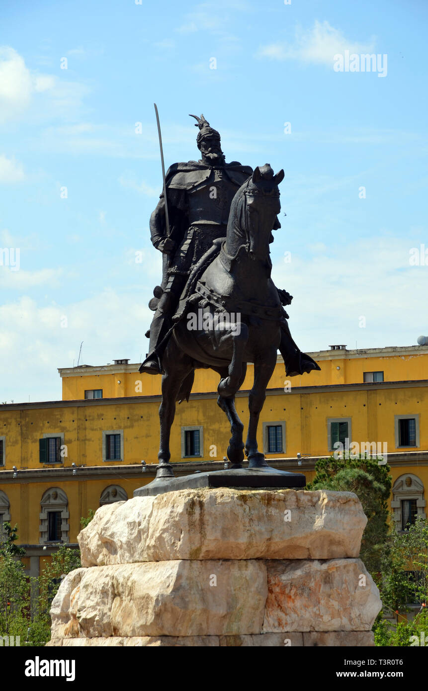 Tirana, part 2, Skanderbeg square - Stock Image