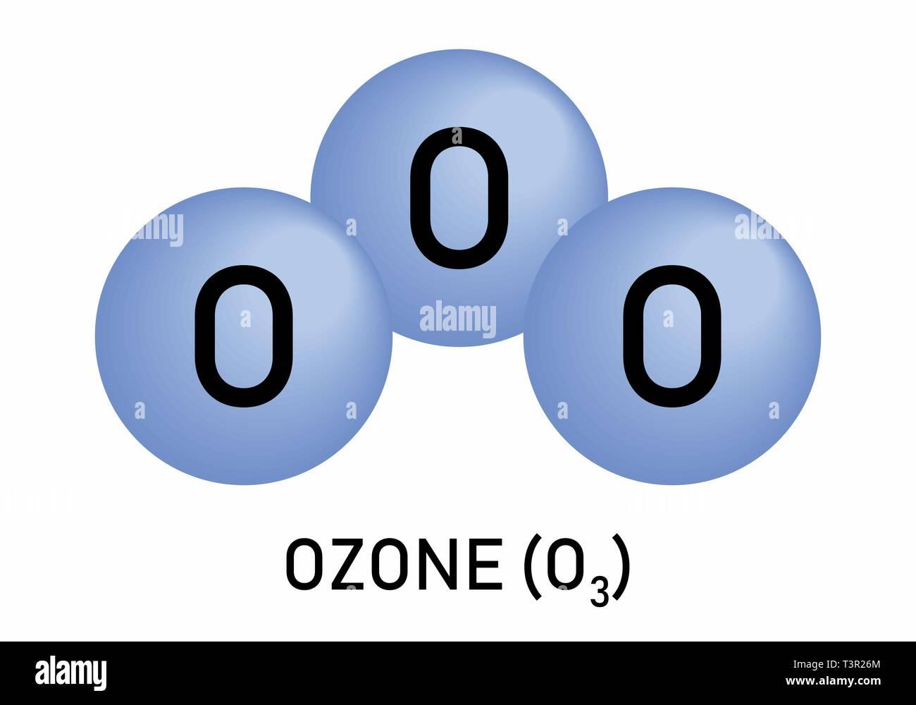 O3 Ozone formula - Stock Image