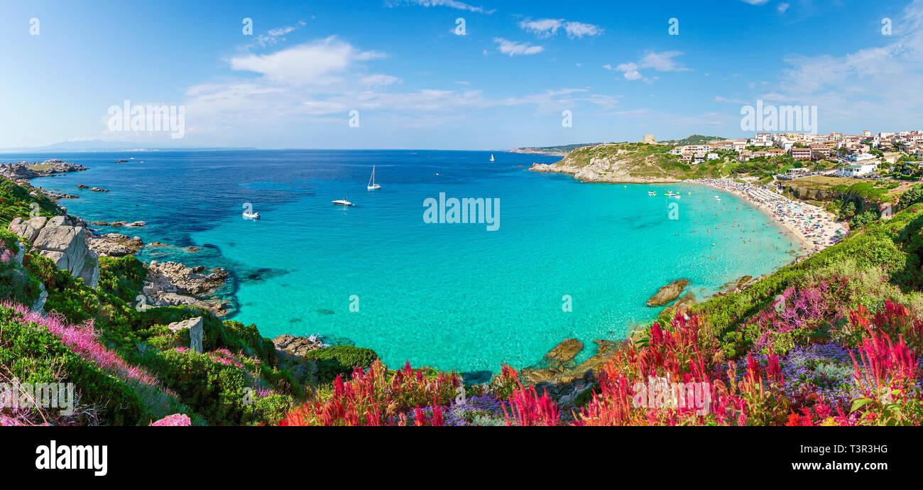 Rena Bianca beach, north Sardinia island, Italy Stock Photo