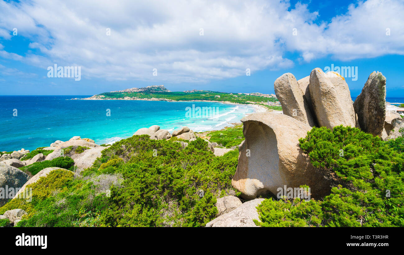 Rena Di Ponente beach, north Sardinia island, Italy Stock Photo