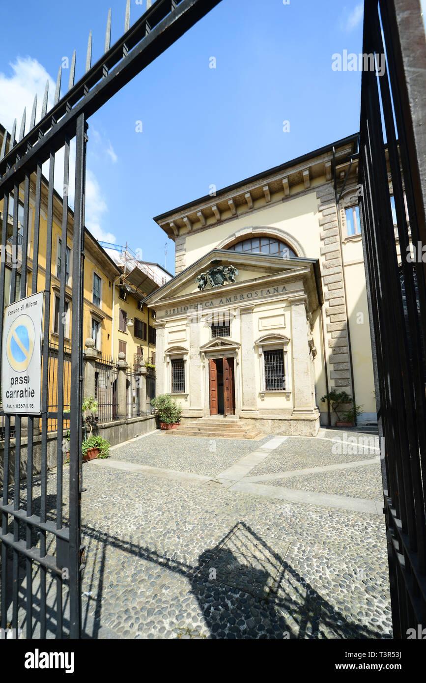 Italia, Lombardia, Milano, Biblioteca Ambrosiana - Stock Image