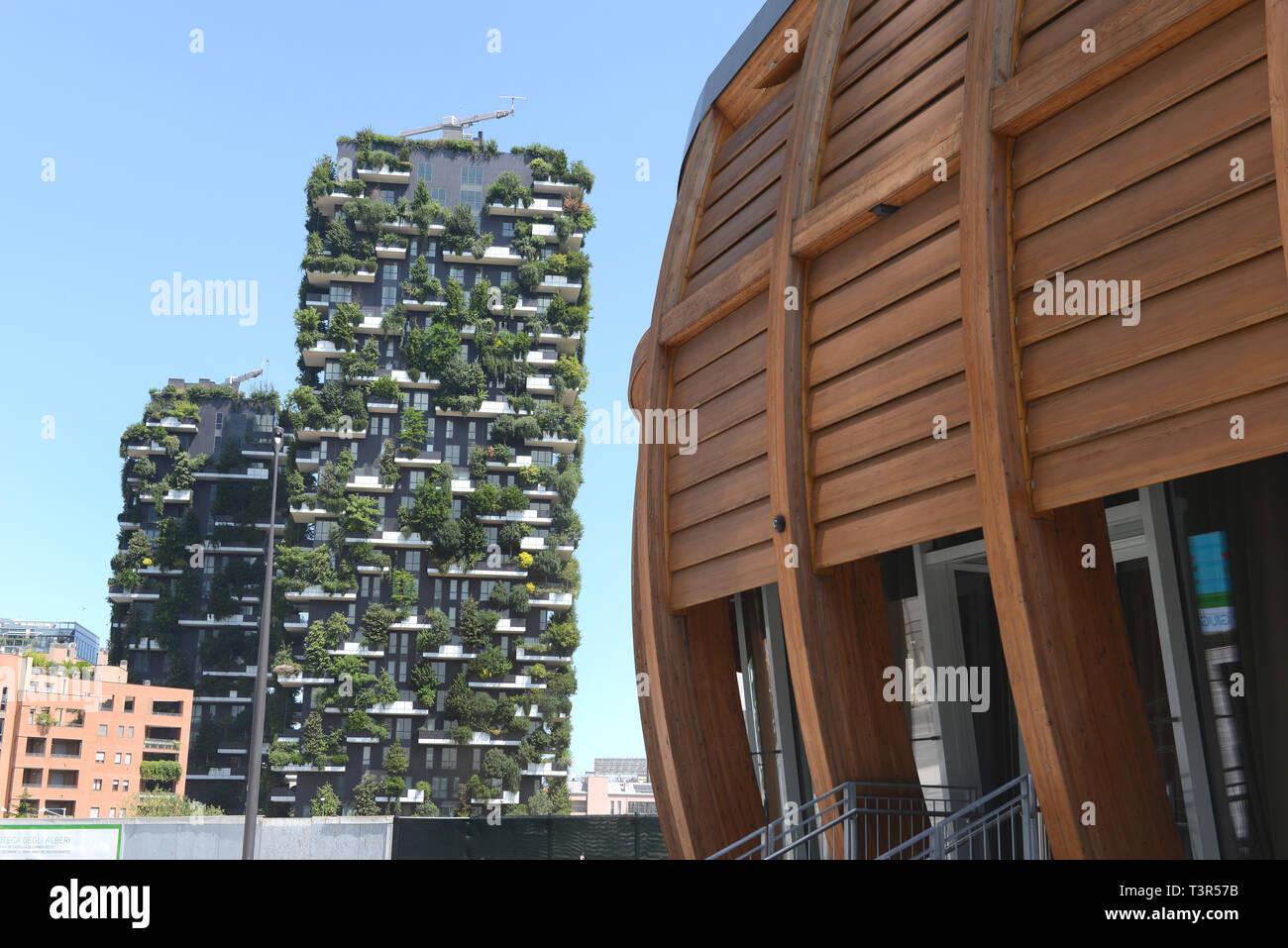 Italia, Lombardia, Milano, Bosco Verticale - Stock Image