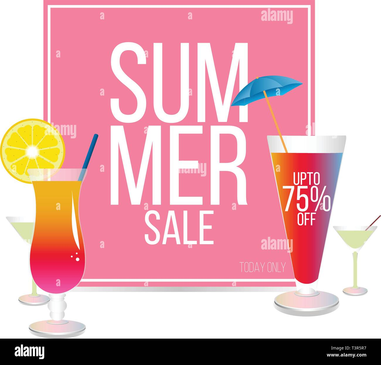 Summer sale design, Hot summer sale template banner - Stock Vector