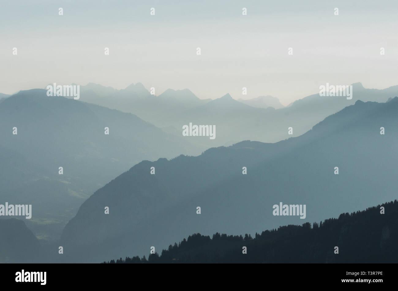 Abendstimmung in den Alpen - Stock Image