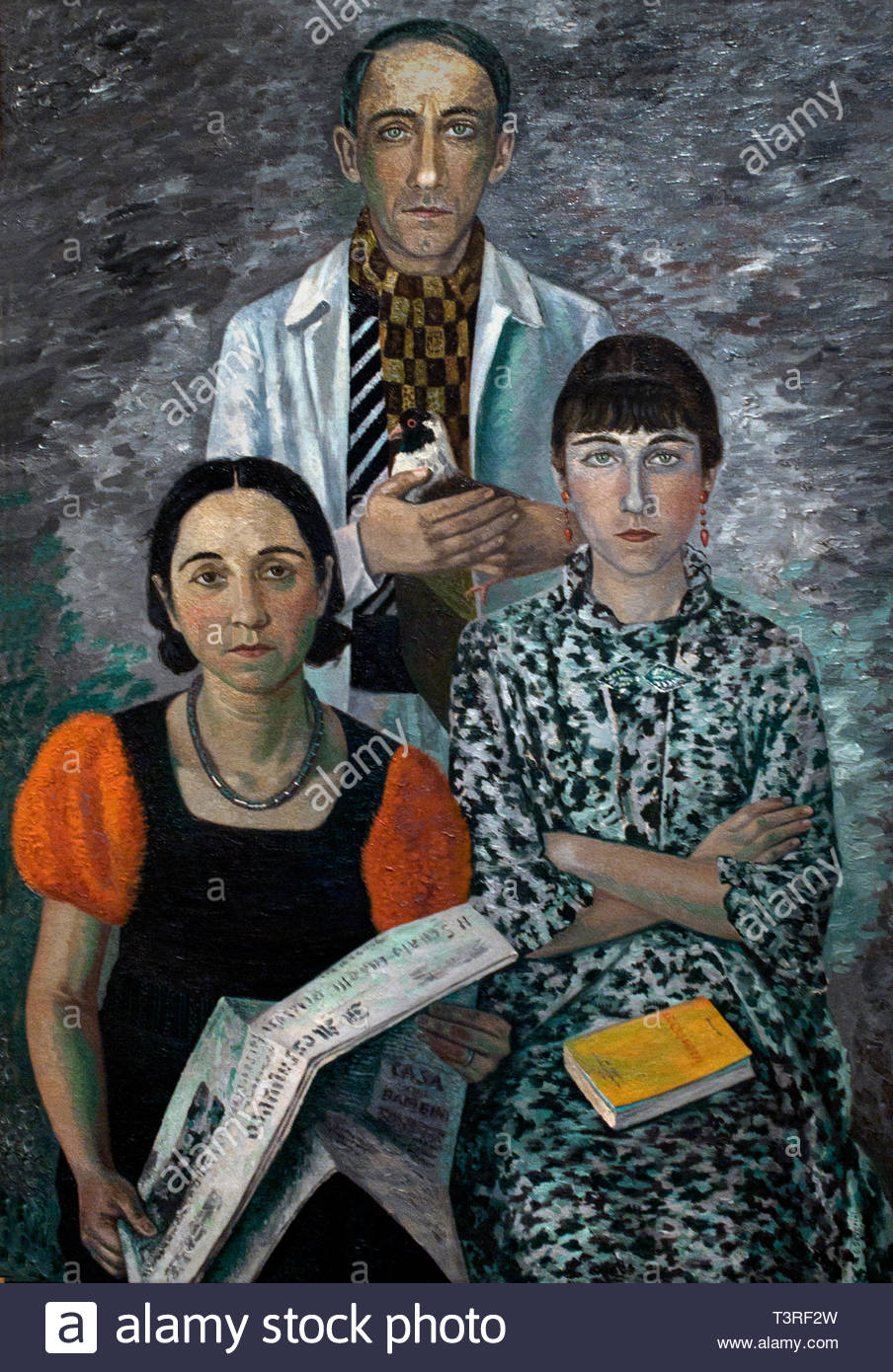 La Famille du peintre - Family of the painter 1936  by Gino Severini born in 1883 Italian painter (Futurist movement) Italy - Stock Image