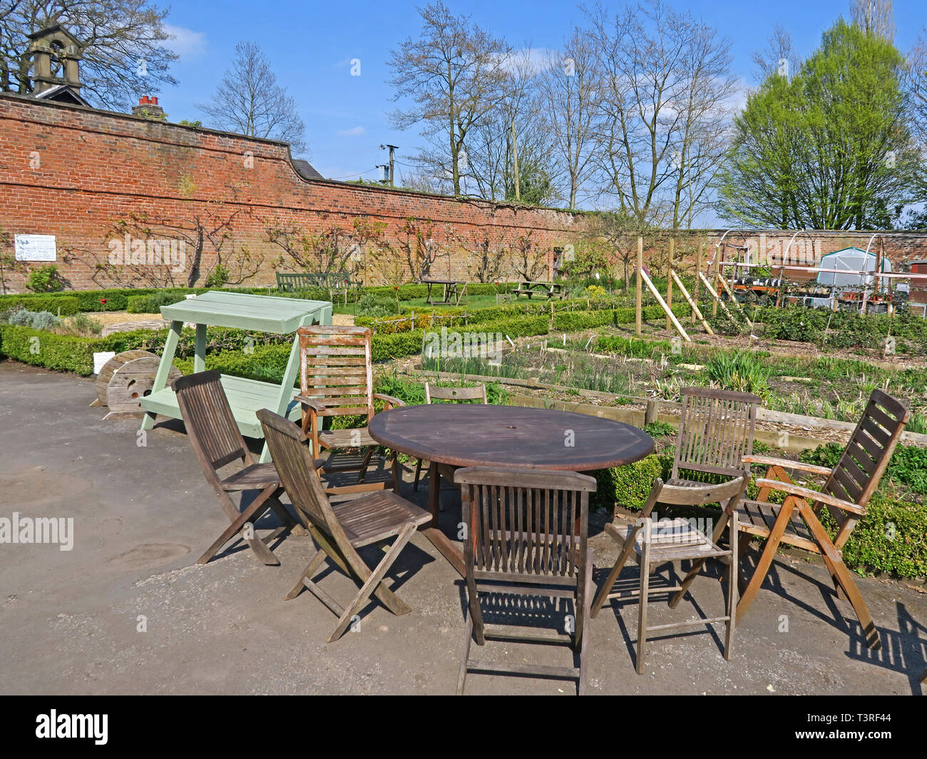 Interior of Walton Lea Walled Garden - Stock Image