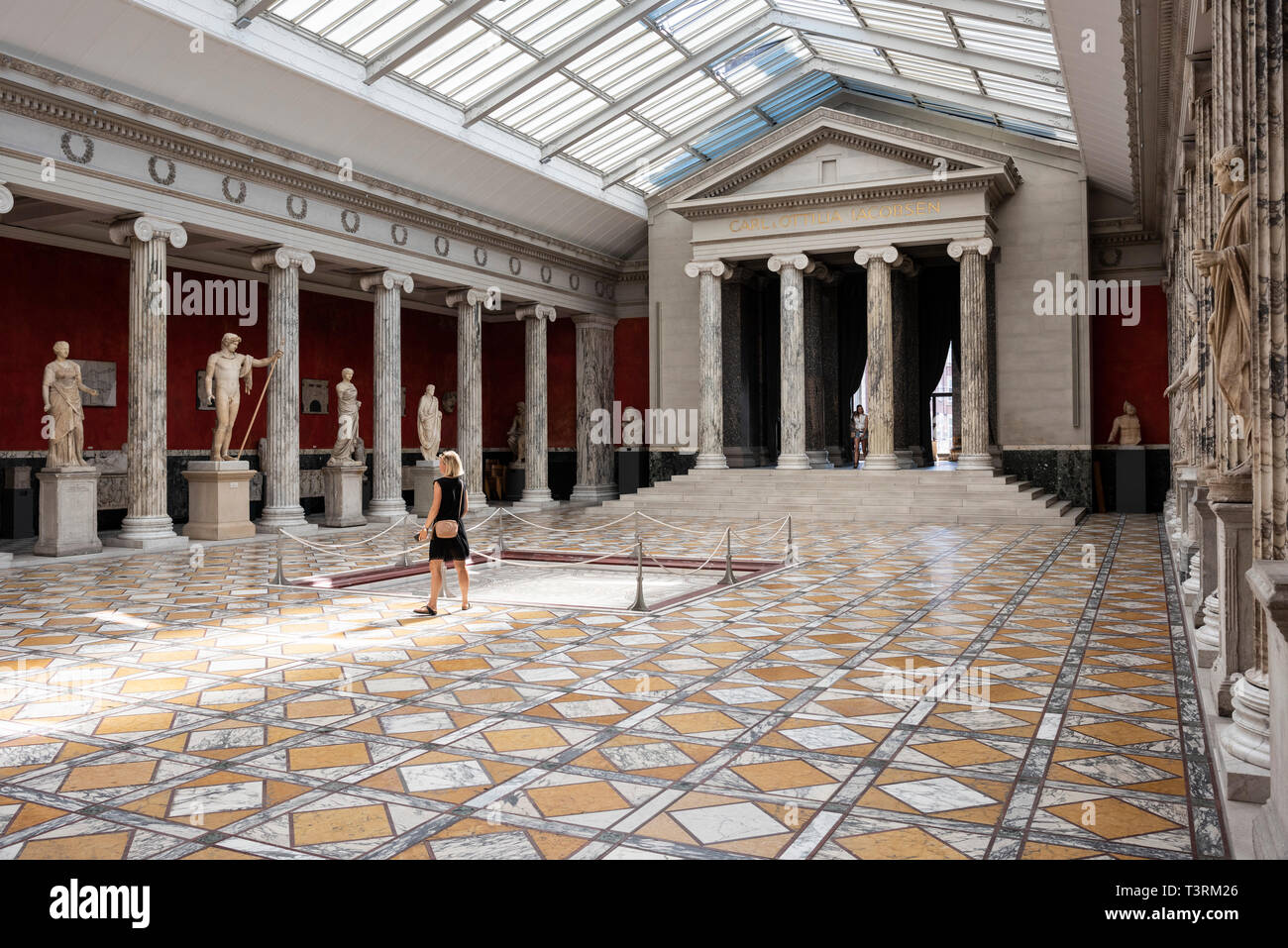 Copenhagen. Denmark. Central Hall / Auditorium of the Kampmann Wing. Ny Carlsberg Glyptotek. - Stock Image