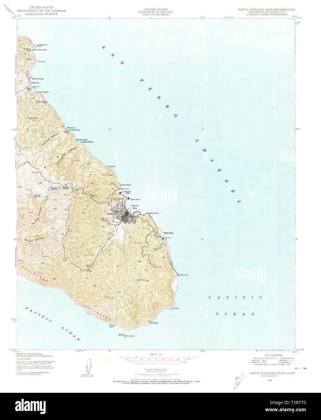 Catalina Map on