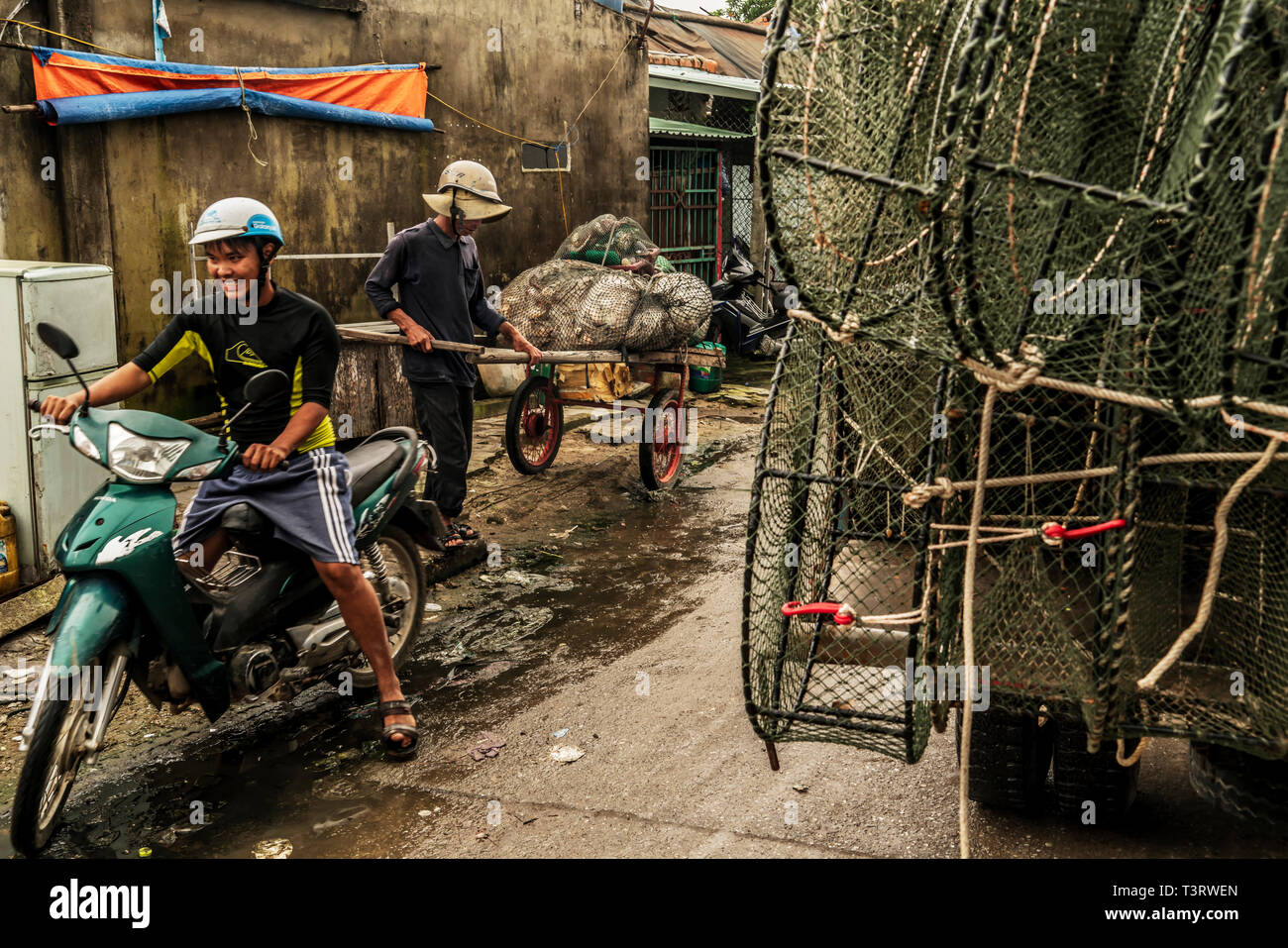 Hoi An fishing fleet - Stock Image