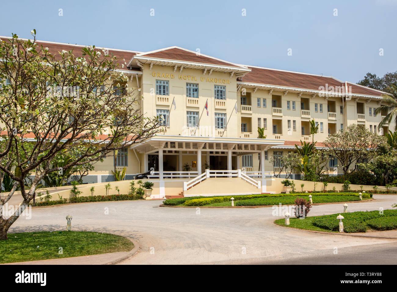Raffles Grand Hotel D Angkor Siem Reap Cambodia Stock Photo Alamy