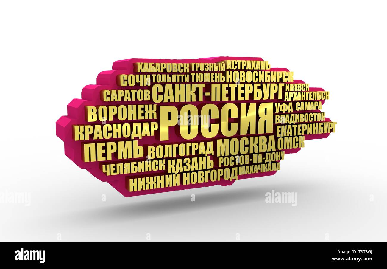List of cities and towns in Russia  Word cloud collage