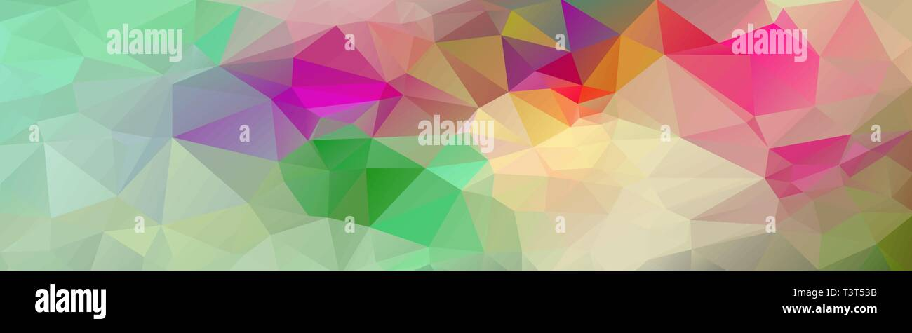 Multicolor banner background from triangles, header for web. - Stock Image