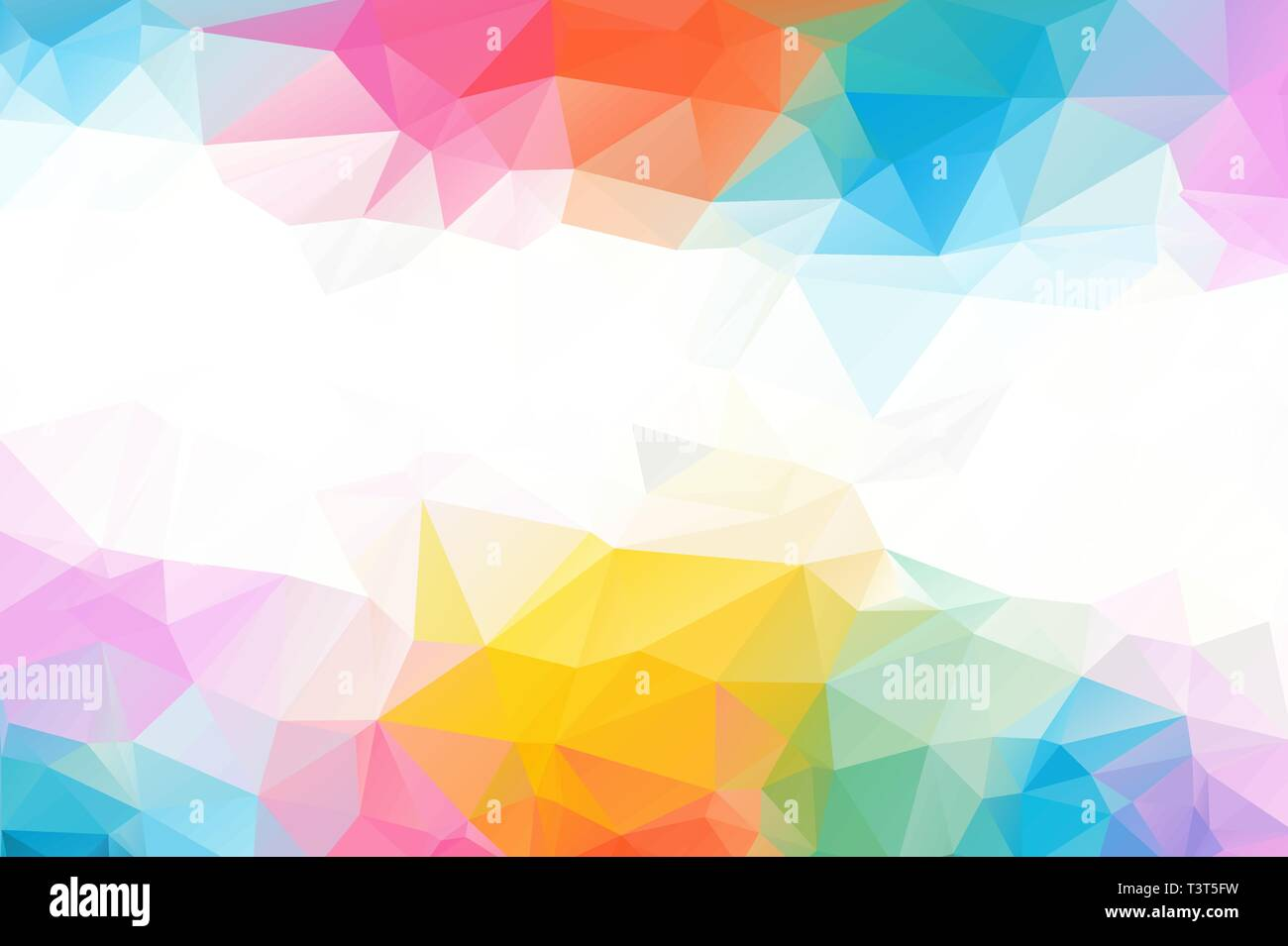 Colorful Abstract Background From Triangles Blue And Yellow