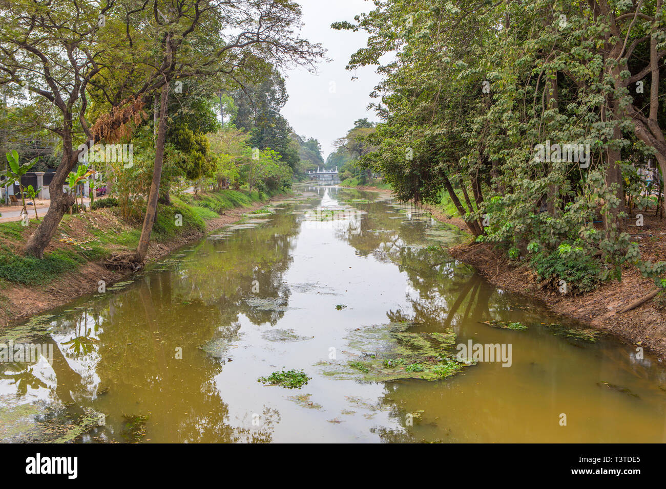 Siem Reap River, Cambodia - Stock Image