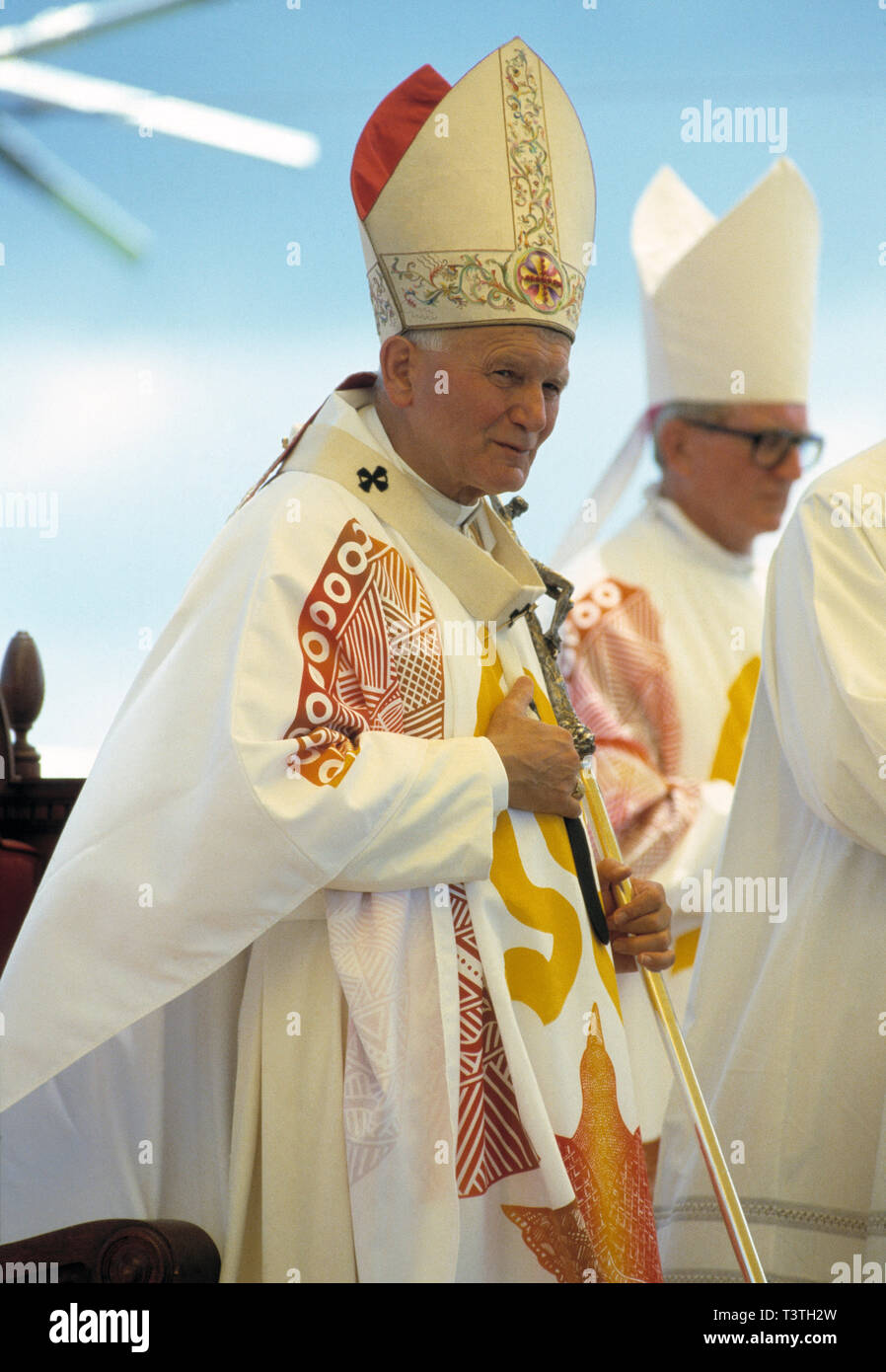 Religious leader. Pope John Paul II (1929 - 2005). Photographed during visit to Australia in 1986. - Stock Image