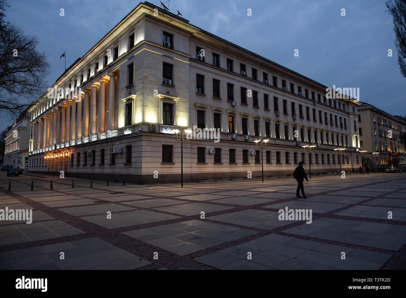 Bulgarian Ministry of Defense Building, Sofia City Center, Bulgaria, Europe, - Stock Image