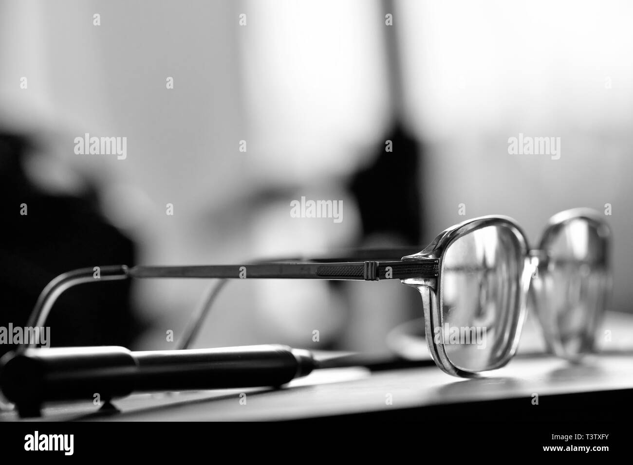 On the Desk. - Stock Image