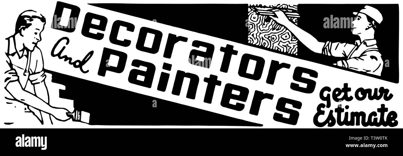 Decorators And Painters - Stock Image