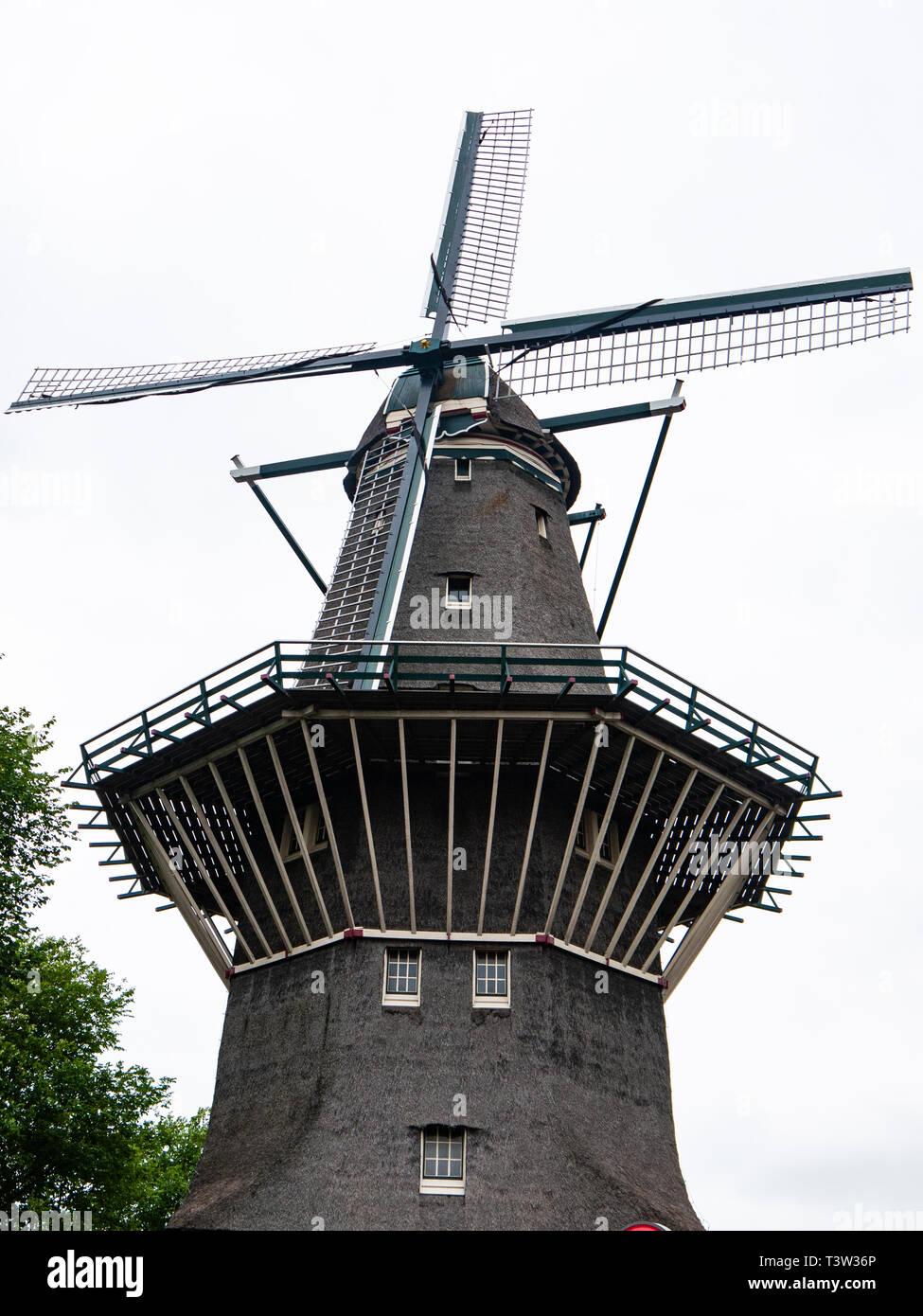 Brouwerij 't IJ brewery, De Gooyer windmill, Amsterdam, Netherlands - Stock Image