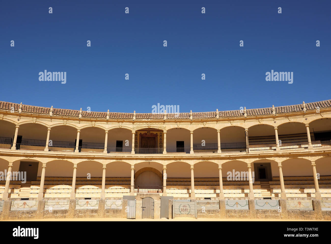 Ronda, Andalucia, Spain - March 16, 2019 : interior and seating