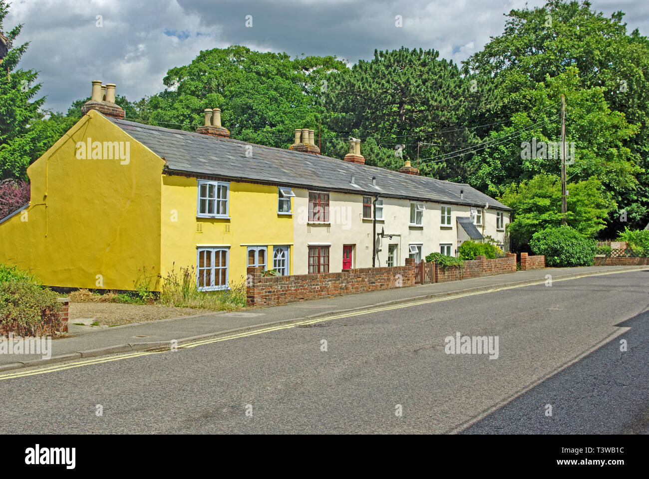 Terrace Cottages, Cavendish, Suffolk - Stock Image