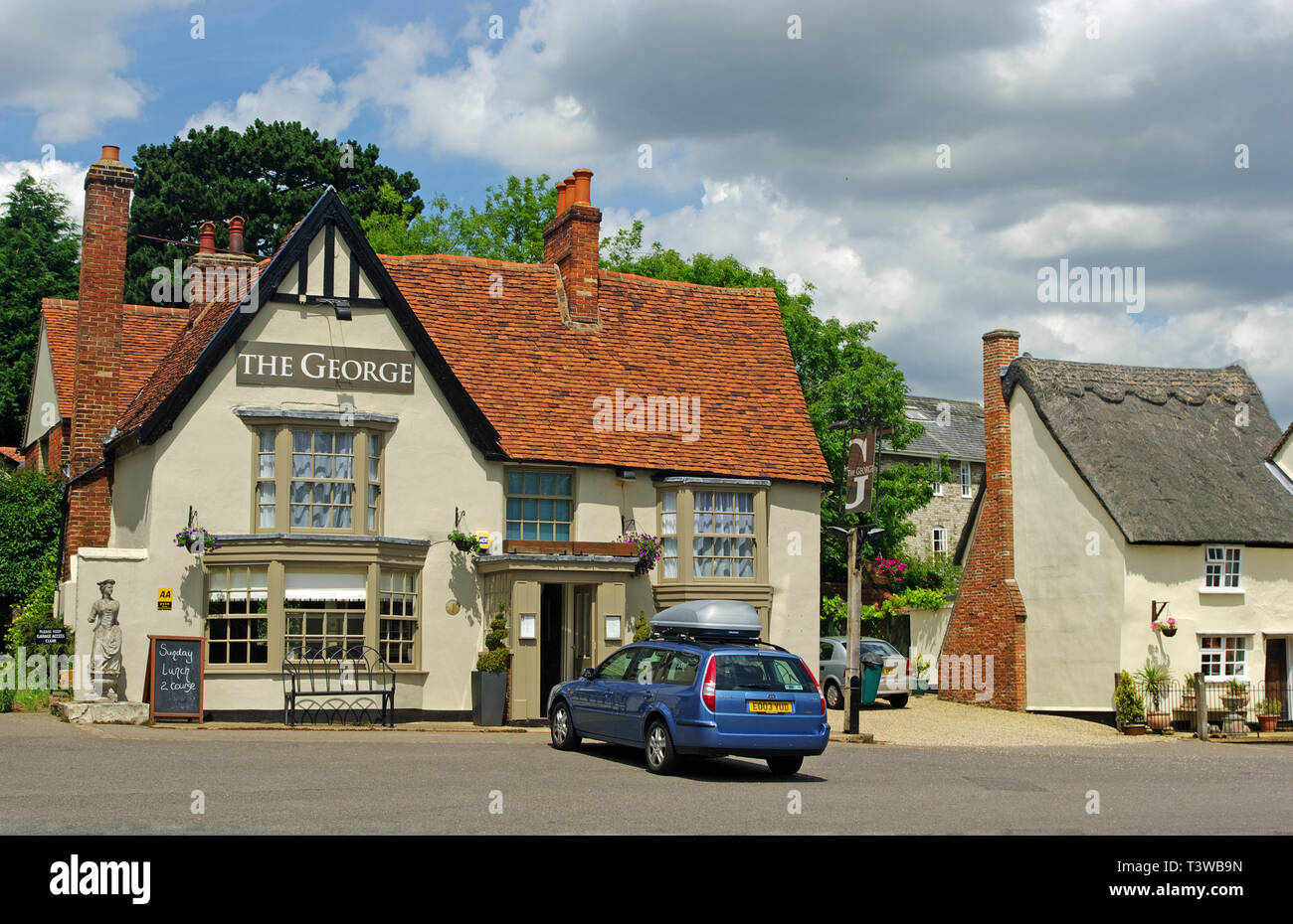 The George Pub, Cavendish, Suffolk - Stock Image