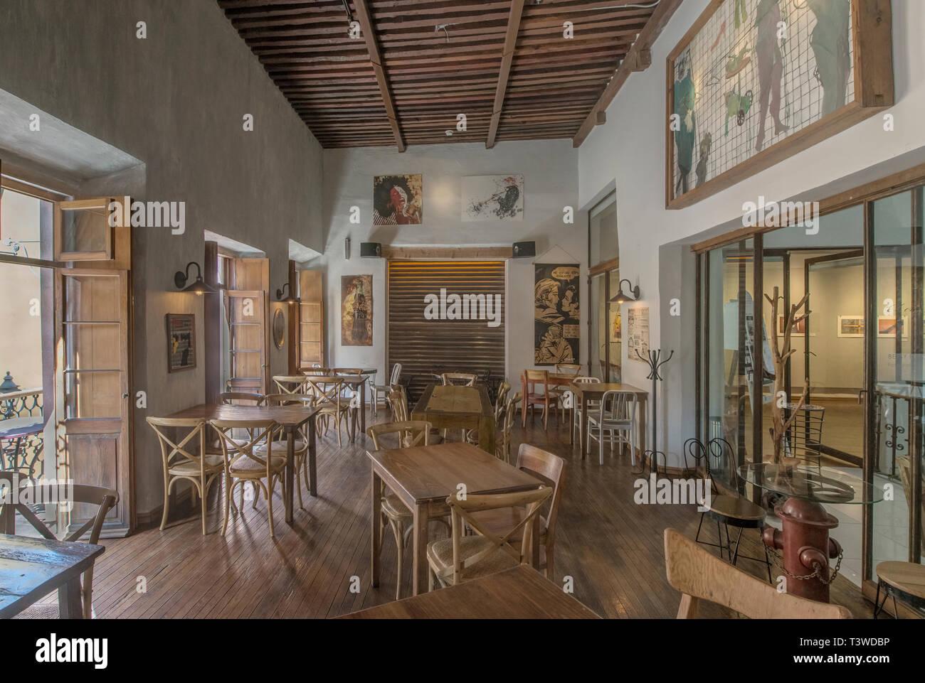 Chairs And Tables In Traditional Coffee Shop Guanajuato Guanajuato Mexico Stock Photo Alamy