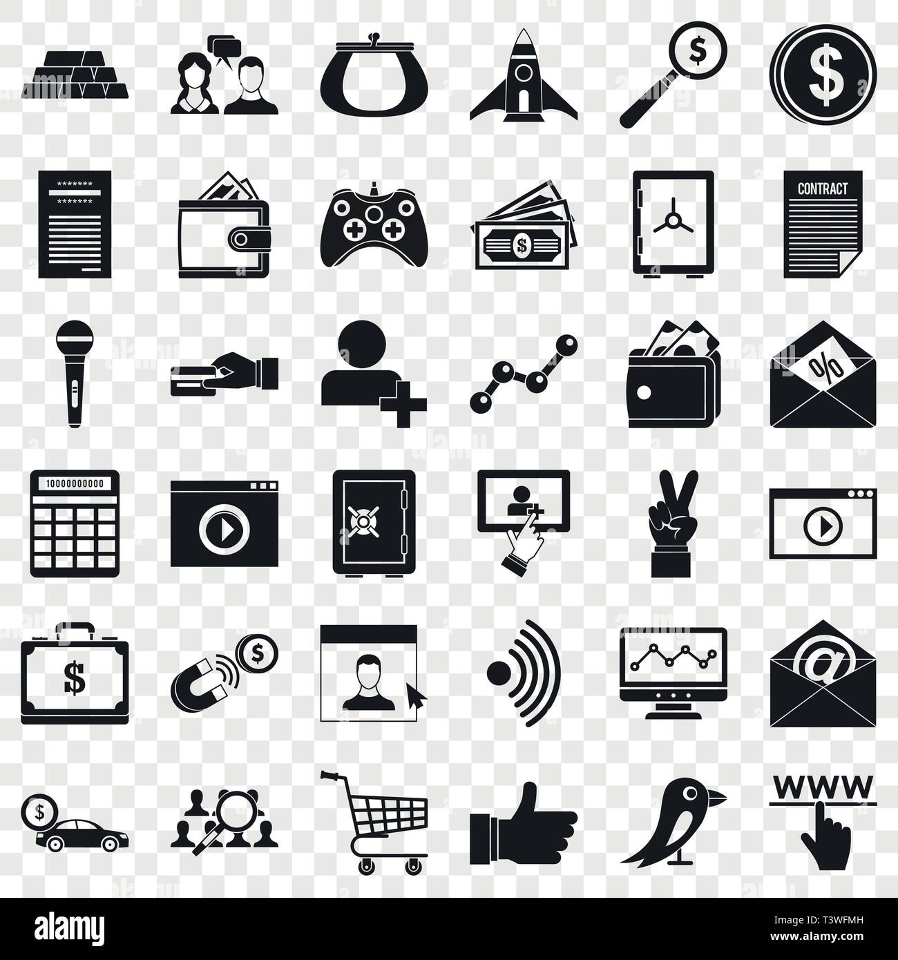 digital marketing icons set simple style stock vector image art alamy https www alamy com digital marketing icons set simple style image243350257 html