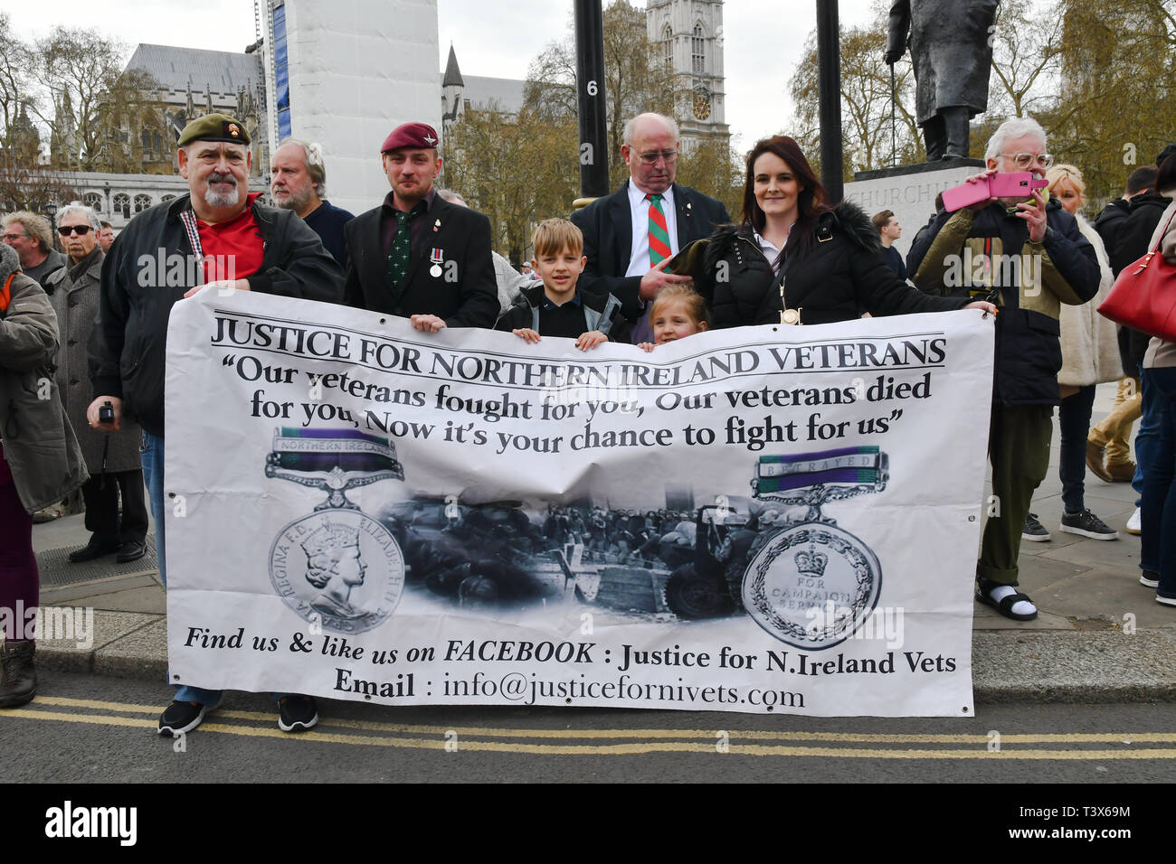 London, UK. 12th Apr 2019. Soldier F is to face two murder charges and four attempted murder charges over the infamous massacre of 14 civil rights demonstrators by British paratroopers in Derry at the height of the Troubles on January 30, 1972. Credit: Picture Capital/Alamy Live News - Stock Image