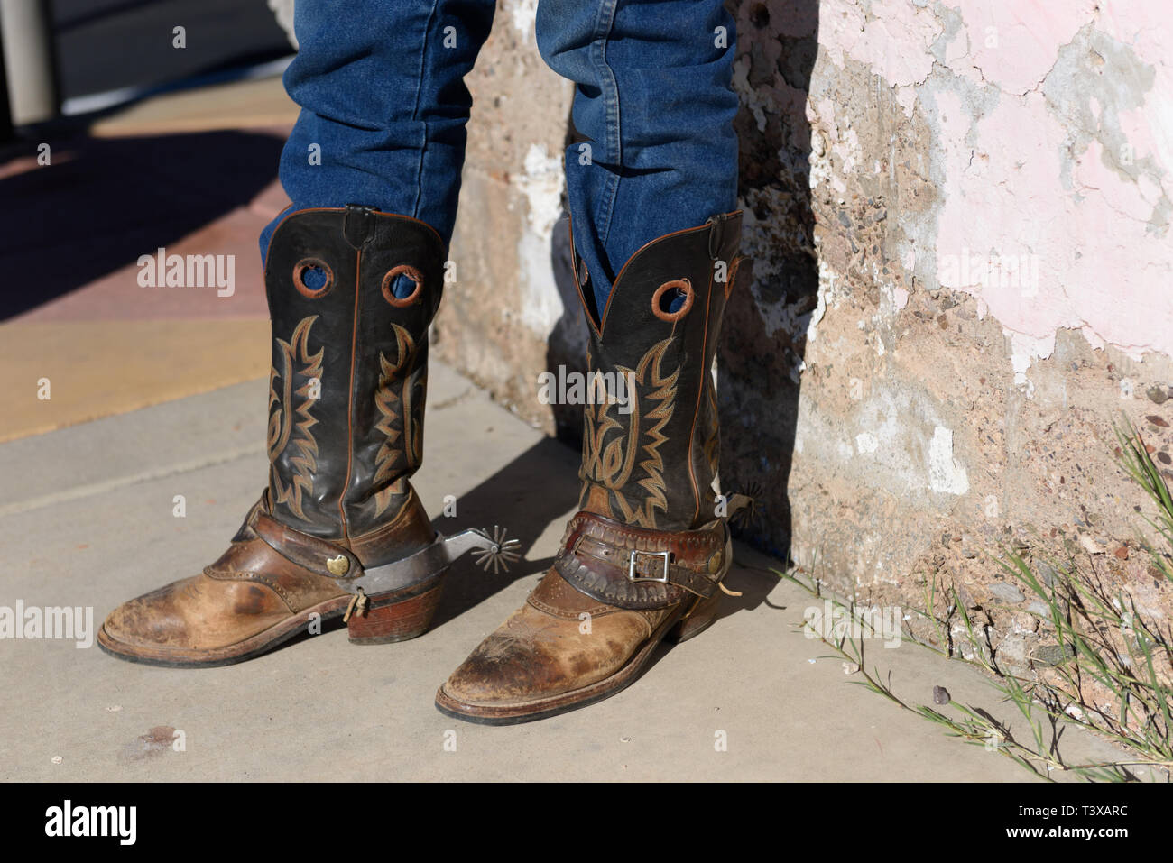 fc535b1df3b Old Cowboy Boots Stock Photos & Old Cowboy Boots Stock Images - Alamy