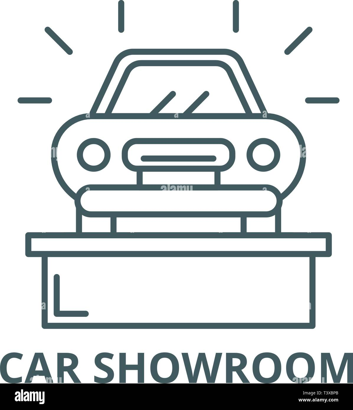 Incredible Car Showroom Line Icon Vector Car Showroom Outline Sign Download Free Architecture Designs Scobabritishbridgeorg