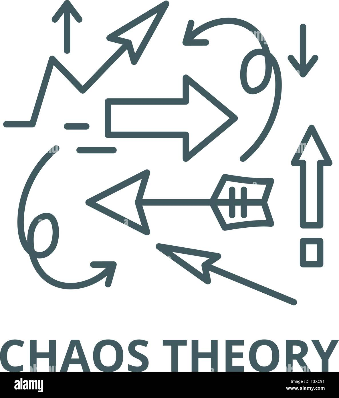 Chaos Theory Line Icon Vector Chaos Theory Outline Sign