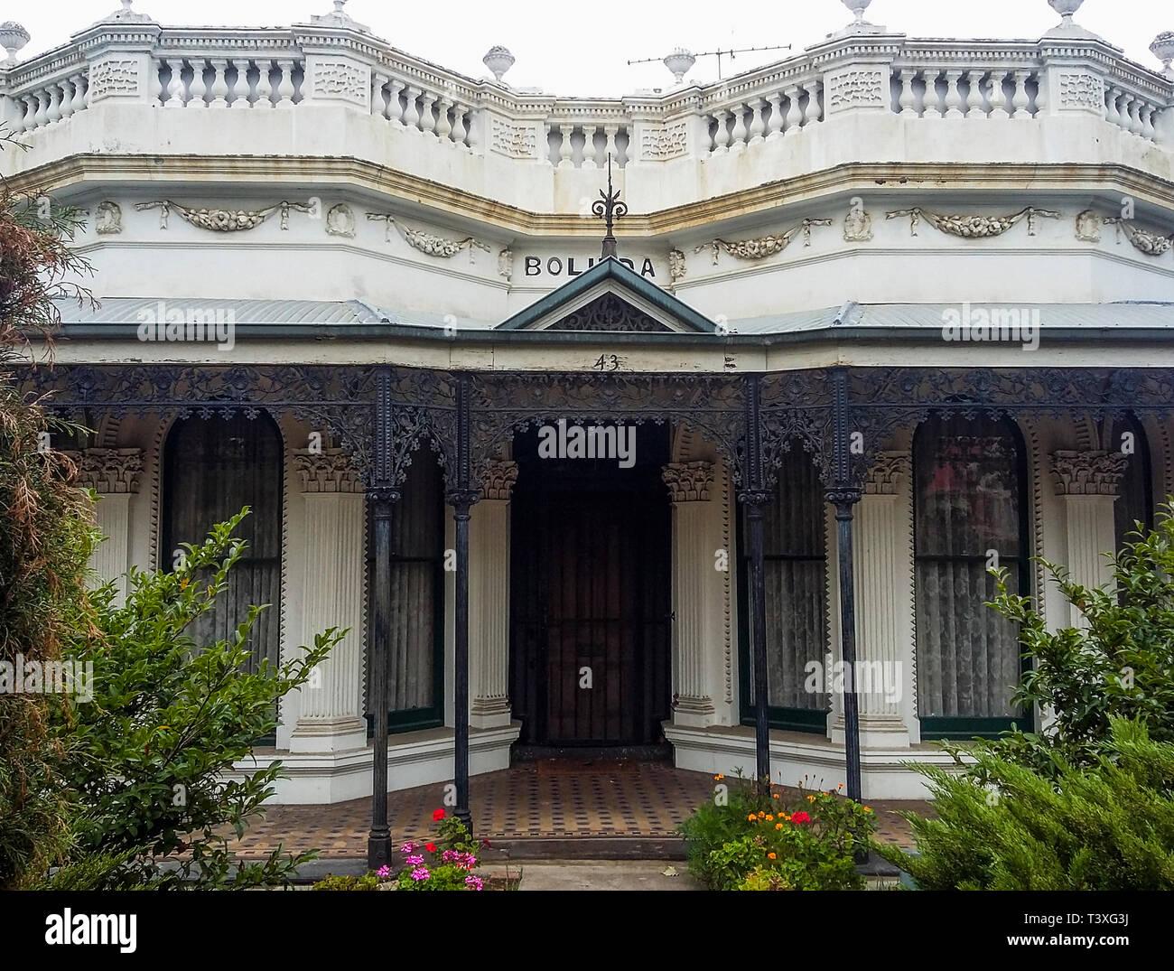 Victorian Italianate mansion in suburban Ascot Vale, Melbourne, Australia Stock Photo