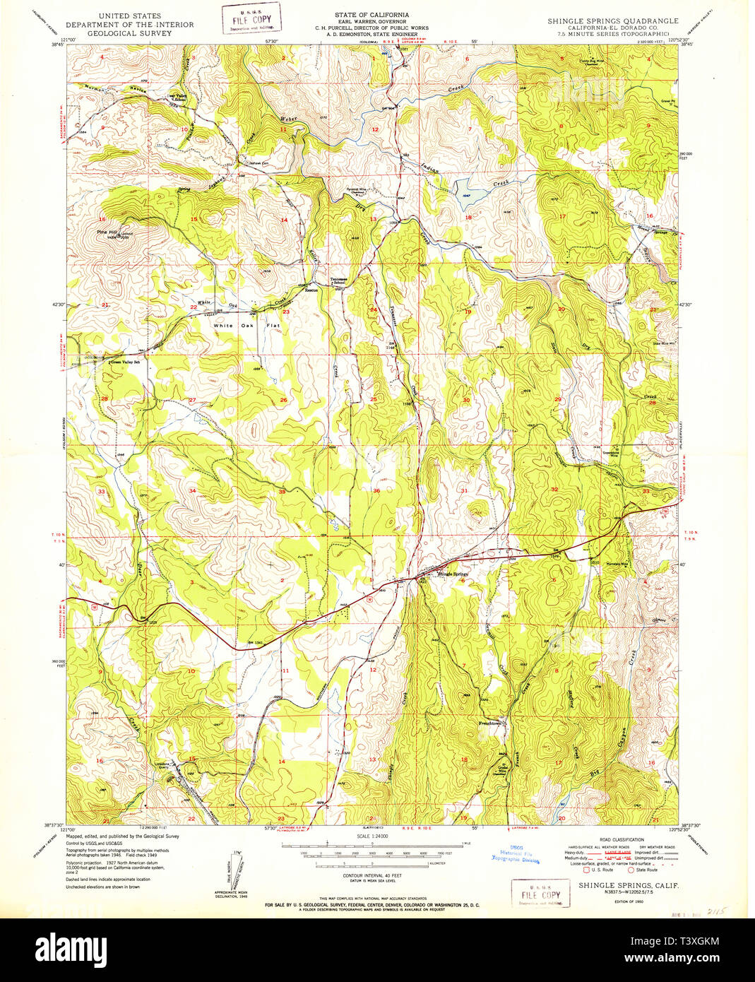 USGS TOPO Map California CA Shingle Springs 300462 1950 ... Shingle Springs Map on vacaville map, janesville map, galt map, orangevale map, french gulch map, lake of the pines map, loomis map, manteca map, greenwood map, spring valley map, tuolumne map, burney map, marshall gold discovery state historic park map, fair oaks map, rancho murieta map, rancho cordova map, lodi map, dollar point map,