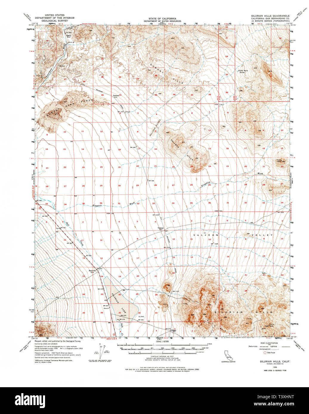 USGS TOPO Map California CA Silurian Hills 301720 1956 62500 ...