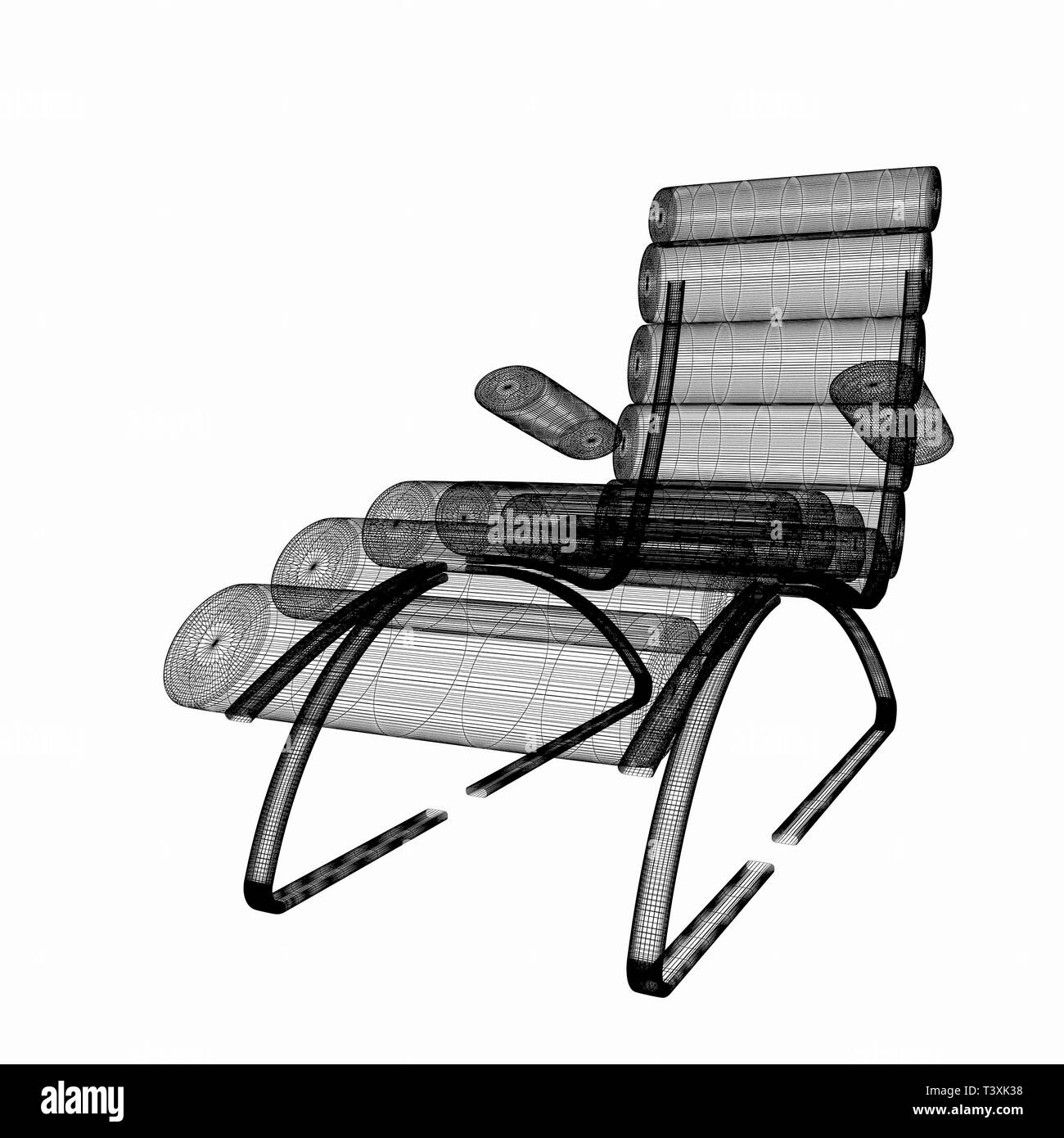 Medical chair for cosmetology  3d illustration Stock Photo