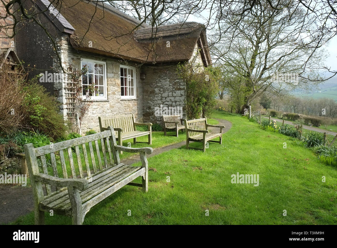 Pales Quaker Meeting House, Radnorshire, Wales Stock Photo