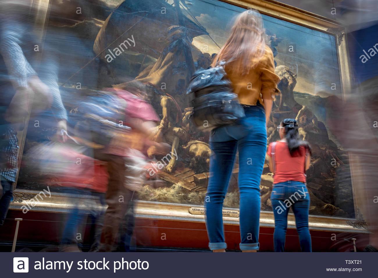 The Raft of the Medusa (Théodore Géricault), Louvre Museum. August 26, 2018, Paris, France. Le Radeau de La Méduse (Théodore Géricault), Musée du Louv Stock Photo