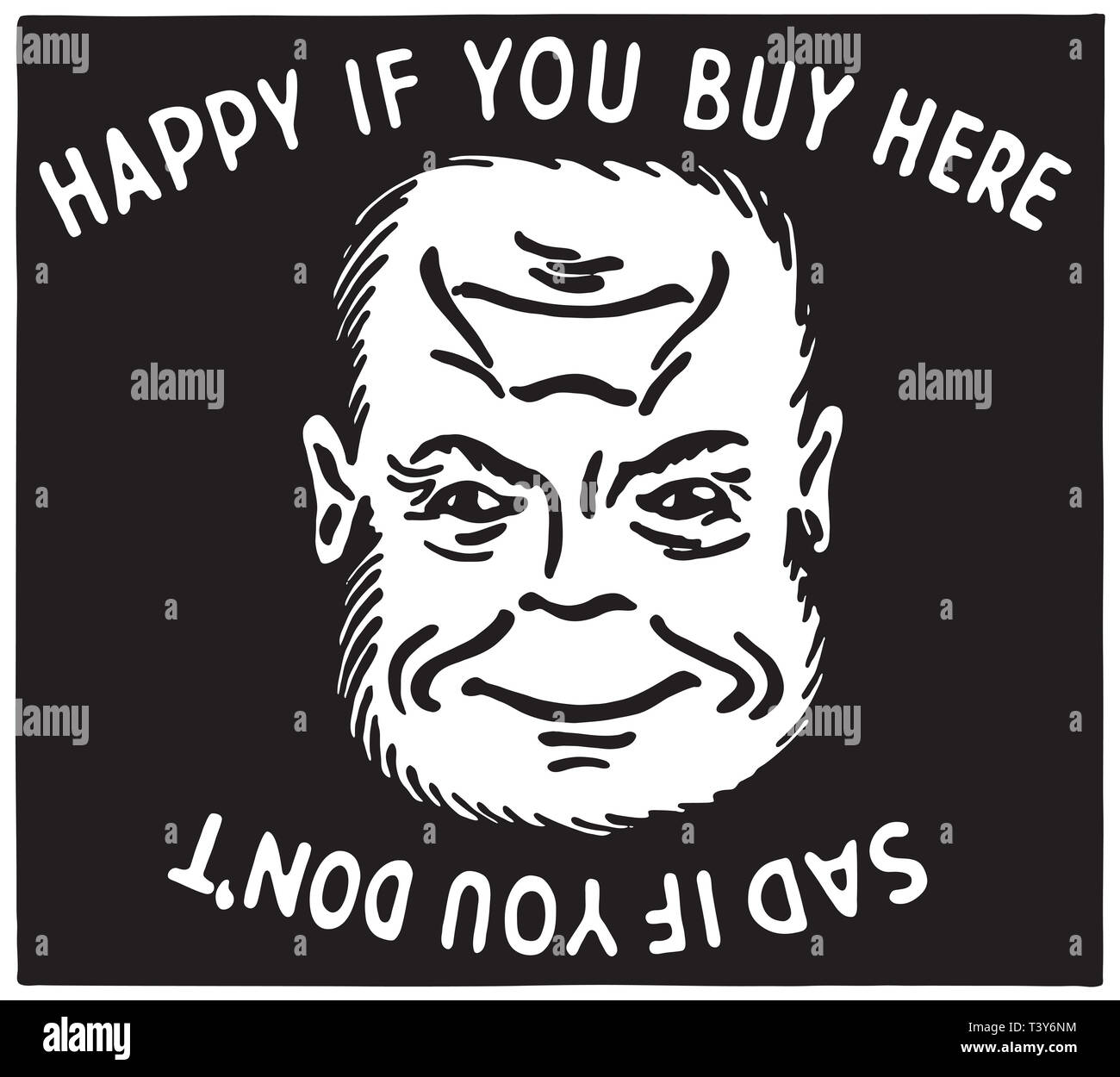 Happy If You Buy Here - Stock Image