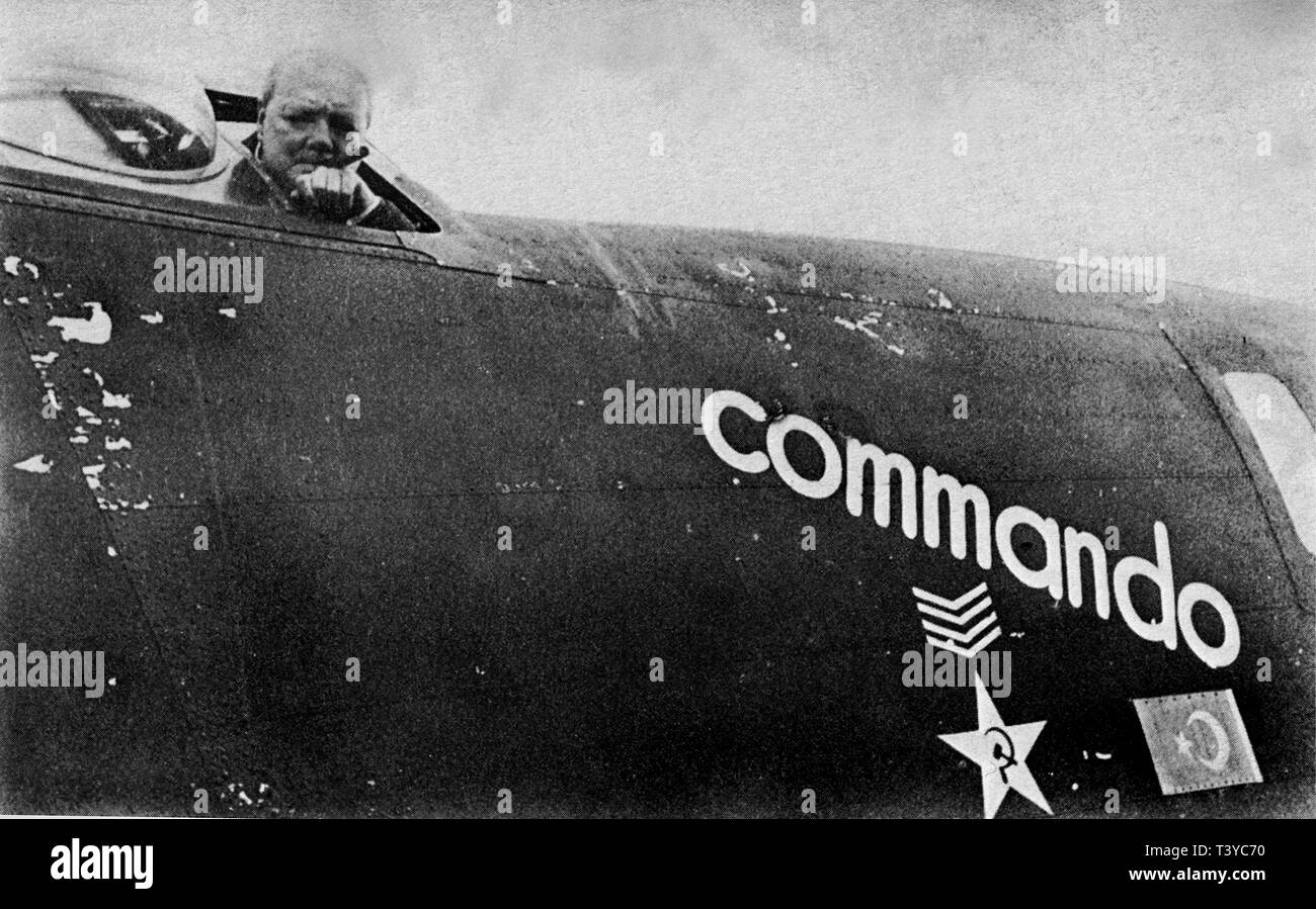 Winston Churchill flew in this aircraft named 'Commando' from North Africa to England. 7th February 1943 - Stock Image