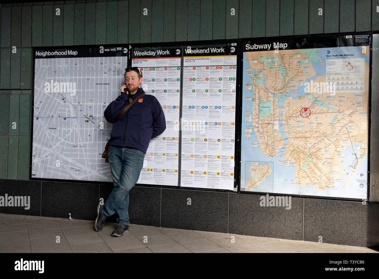 Jackson Heights Subway Map.Nyc Subway Map Stock Photos Nyc Subway Map Stock Images Alamy