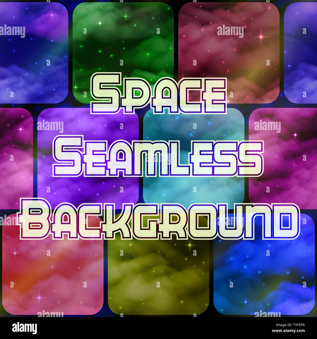 Abstract Space Tile Background - Stock Vector
