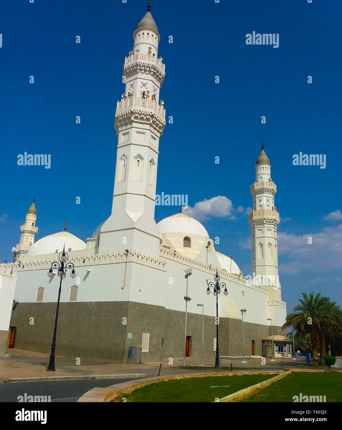 Madinah, Saudi Arabia march 2019, Qiblatain Mosque, one of the most popular mosque in Medina, Saudi Arabia. Pilgrim usually come to the mosque during  - Stock Image