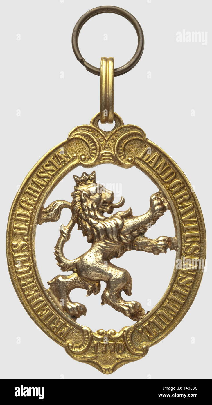 Ordre du Lion d'Or, 58 x 45mm, sans ruban, fabr. postérieure, Additional-Rights-Clearance-Info-Not-Available - Stock Image